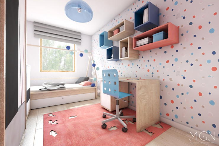 MGN Pracownia Architektoniczna 嬰兒房/兒童房
