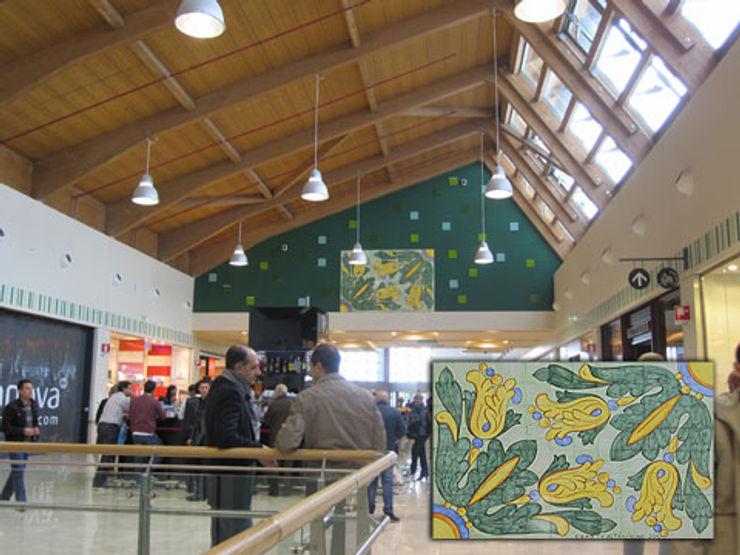 CEAR Ceramiche Azzaro & Romano Srl Mediterranean corridor, hallway & stairs Ceramic Multicolored