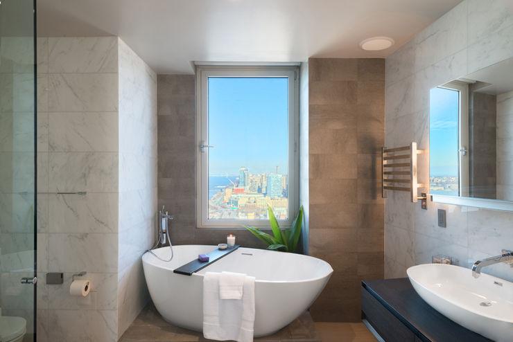 Luxury Apartment Combination Andrew Mikhael Architect Minimalist style bathroom