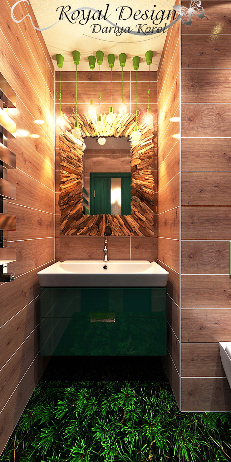 Your royal design Minimalist style bathroom Wood effect