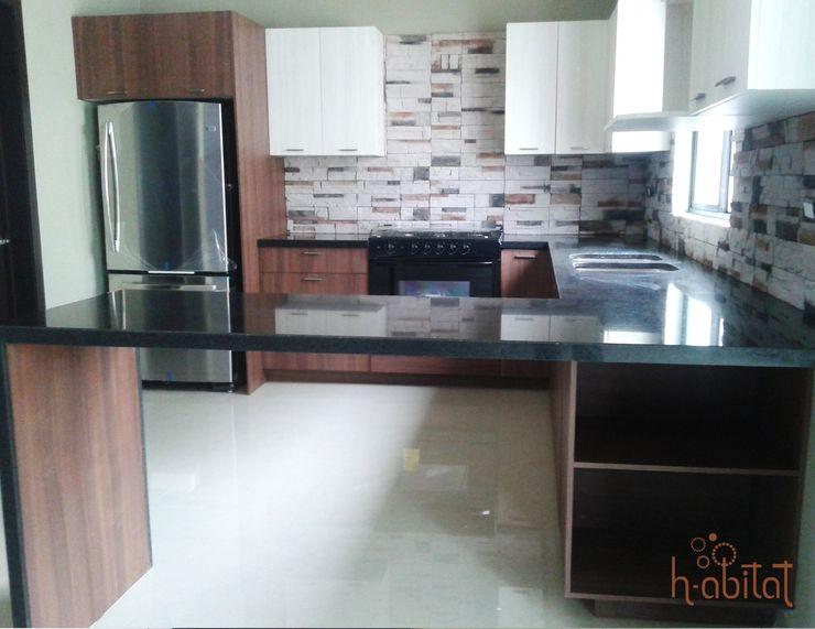 H-abitat Diseño & Interiores 모던스타일 주방 화강암 멀티 컬러
