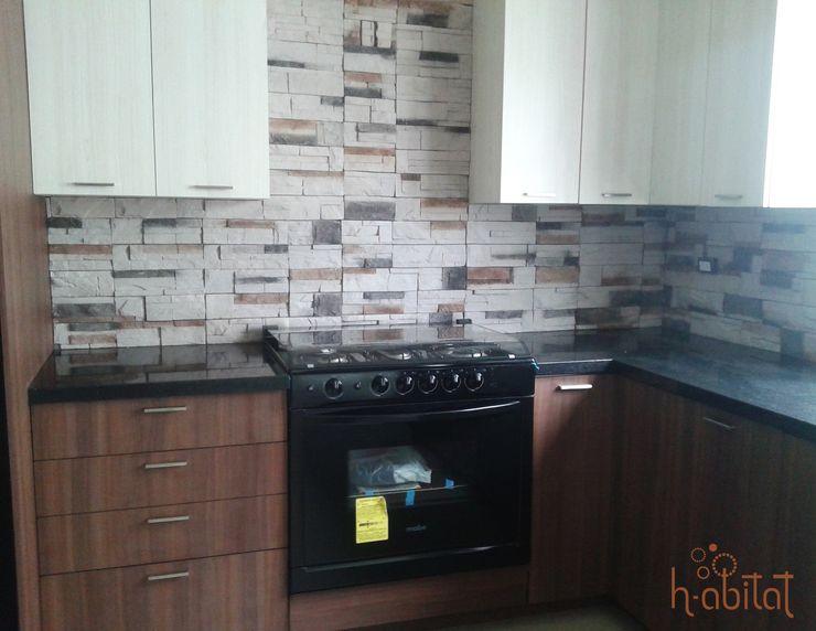 H-abitat Diseño & Interiores ห้องครัว แกรนิต Multicolored