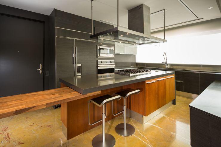 Penthouse Punto Central Línea Vertical Cocinas modernas