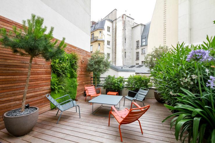 Toit terrasse - Paris 8 Terrasses des Oliviers - Paysagiste Paris Balcon, Veranda & Terrasse modernes