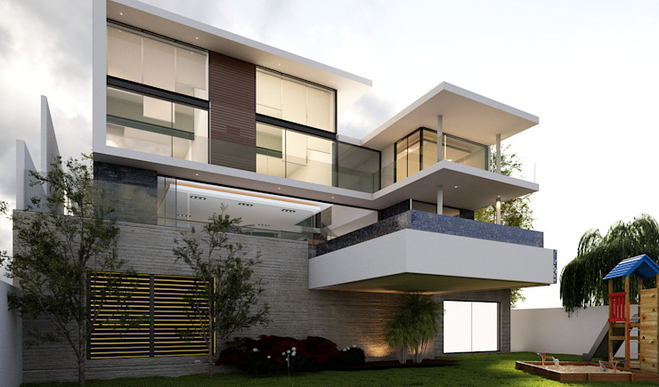 AParquitectos Modern houses Concrete Multicolored