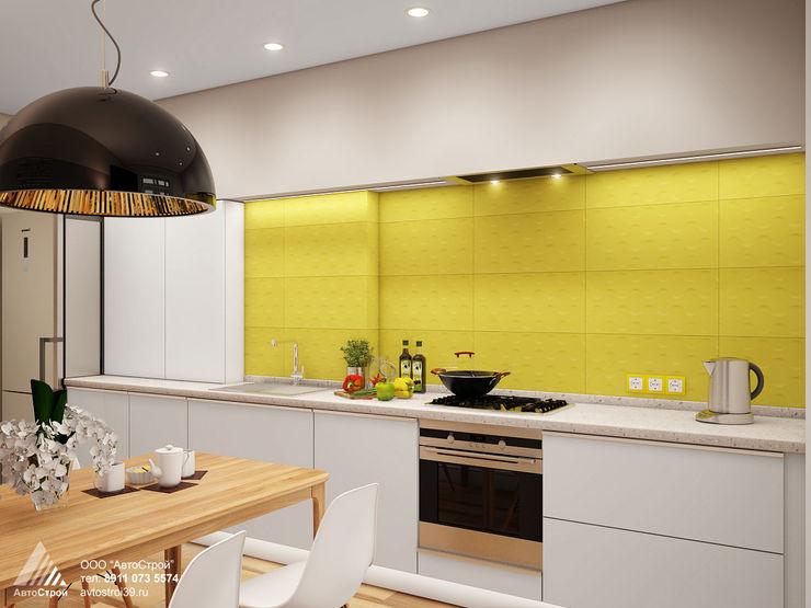 АвтоСтрой Cozinhas modernas Madeira Amarelo