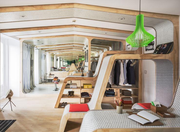MODULOR ZOOCO Estudio Dormitorios de estilo ecléctico