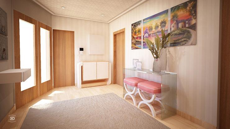 GRAÇA Decoração de Interiores Modern corridor, hallway & stairs