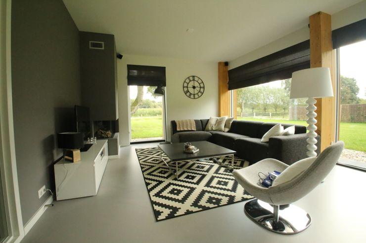 Hoogsteder Architecten Salon moderne Verre Blanc