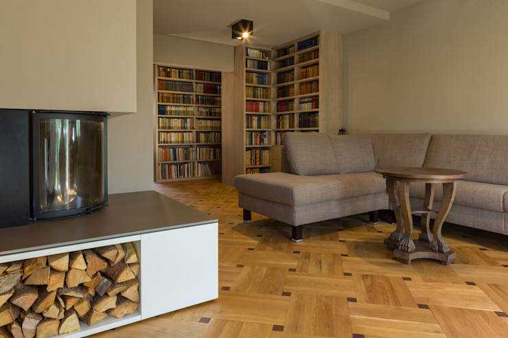dieMeisterTischler 现代客厅設計點子、靈感 & 圖片