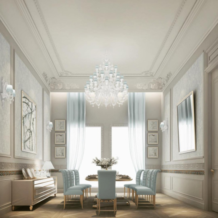 Exploring Luxurious Home : Dining Room in Lush Pistachio Green IONS DESIGN Comedores de estilo clásico Madera Verde