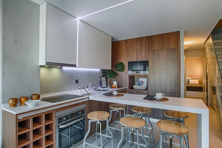 Santiago   Interior Design Studio Cocinas de estilo industrial