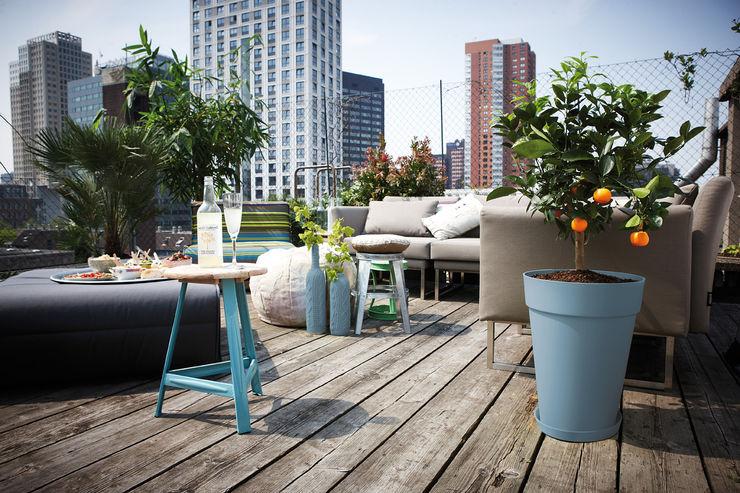 Loft Urban round high Elho México HogarPlantas y accesorios Plástico Azul