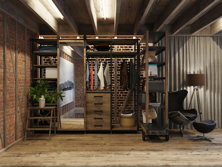 homify Industrial style dressing room