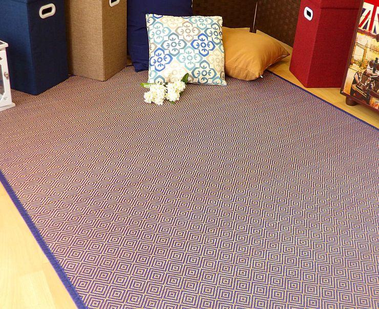 latiendawapa 牆壁與地板地毯 竹 Blue
