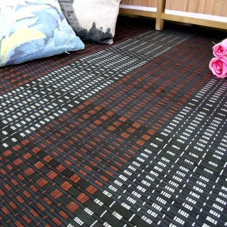 latiendawapa 牆壁與地板地毯 竹 Metallic/Silver
