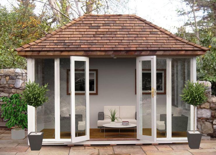 Summerhouse Garden Affairs Ltd Classic style garden Wood White