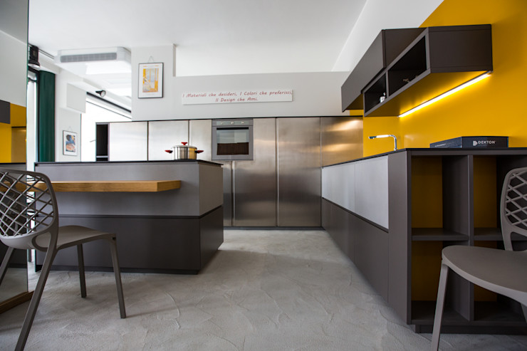 Vibo Cucine sas di Olivero Bruno e c. Modern style kitchen Grey
