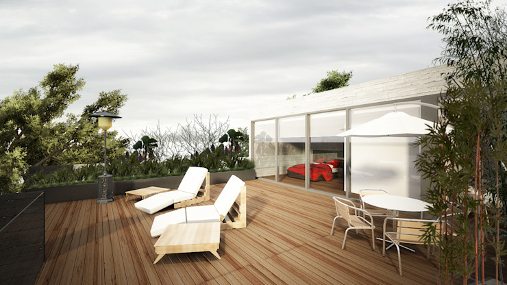 Sulkin Askenazi Балкон и терраса в стиле модерн
