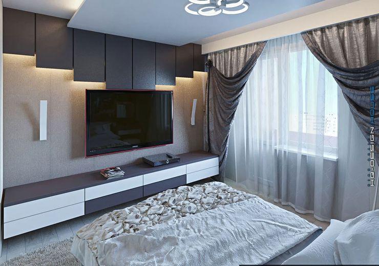 hq-design モダンスタイルの寝室