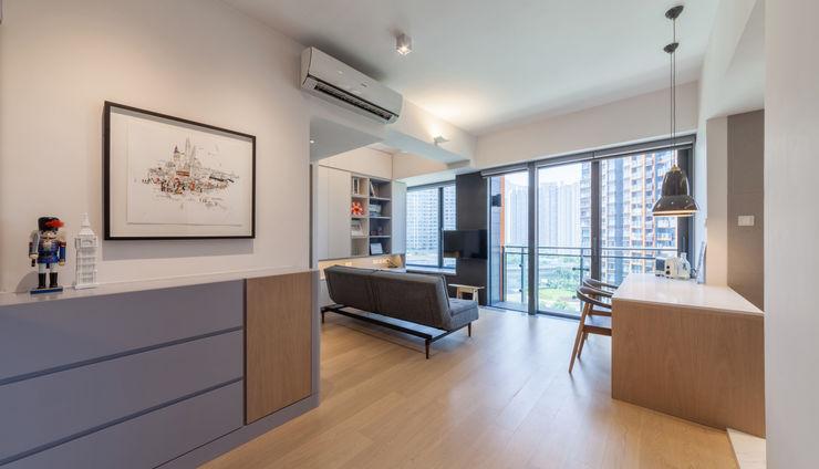 PW's RESIDENCE arctitudesign Minimalist living room