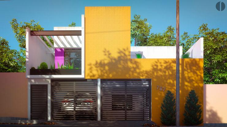 Laboratorio Mexicano de Arquitectura Будинки Бетон Жовтий