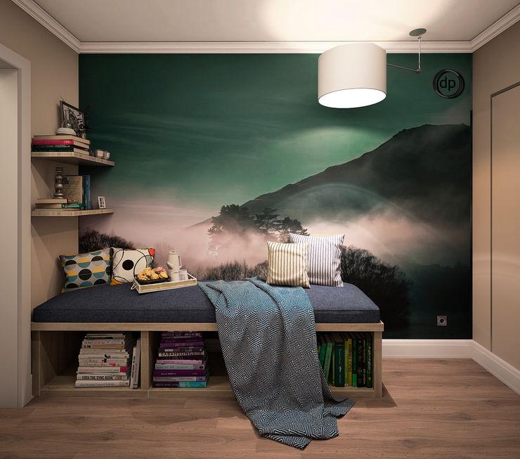 dp_interior Ingresso, Corridoio & Scale in stile scandinavo Legno Verde