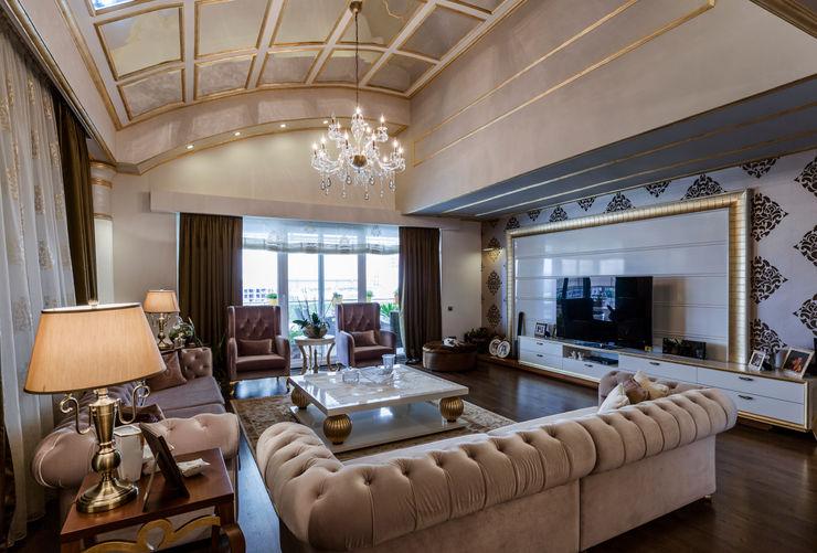 BILGE & AHMET SEZER EVI Mimoza Mimarlık Klasik Oturma Odası
