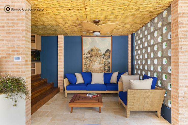 BAMBU CARBONO ZERO Living room Bamboo Wood effect