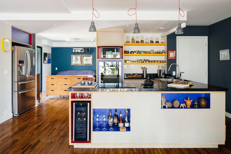 Apartamento Edifício Brasil Alvorada Arquitetos Cozinhas modernas
