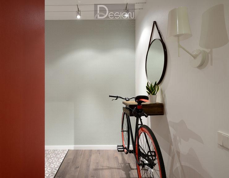 Эстетика чистоты (реализация) Design Service Коридор, прихожая и лестница в эклектичном стиле Бетон Белый