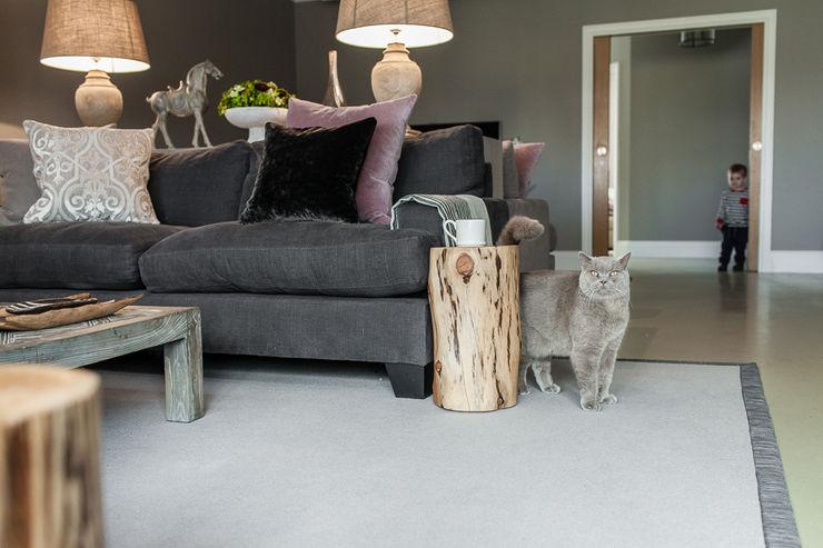 Open Plan Space Lauren Gilberthorpe Interiors Eclectic style living room Grey