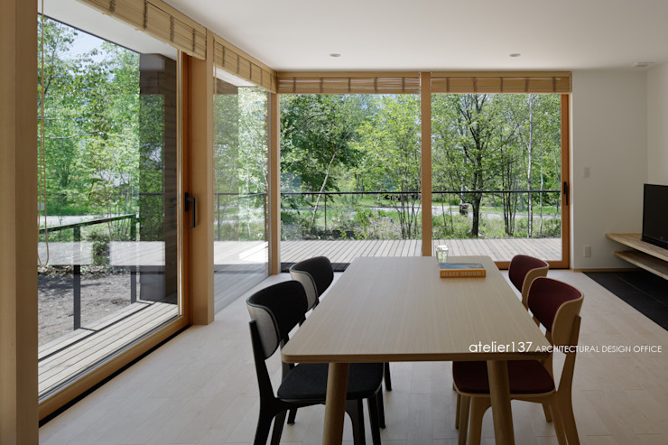 atelier137 ARCHITECTURAL DESIGN OFFICE 客廳 木頭 Wood effect