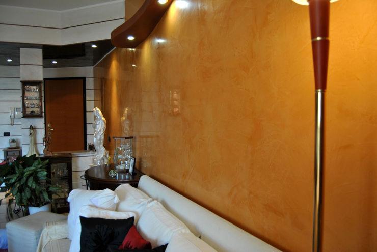 Spatolato veneziano EdilDecorazioni Sala da pranzo moderna Marrone