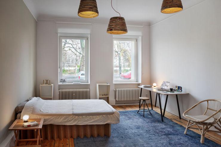 Birgit Glatzel Architektin 인더스트리얼 서재 / 사무실 우드 파랑