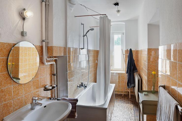 Birgit Glatzel Architektin 인더스트리얼 욕실 세라믹 오렌지
