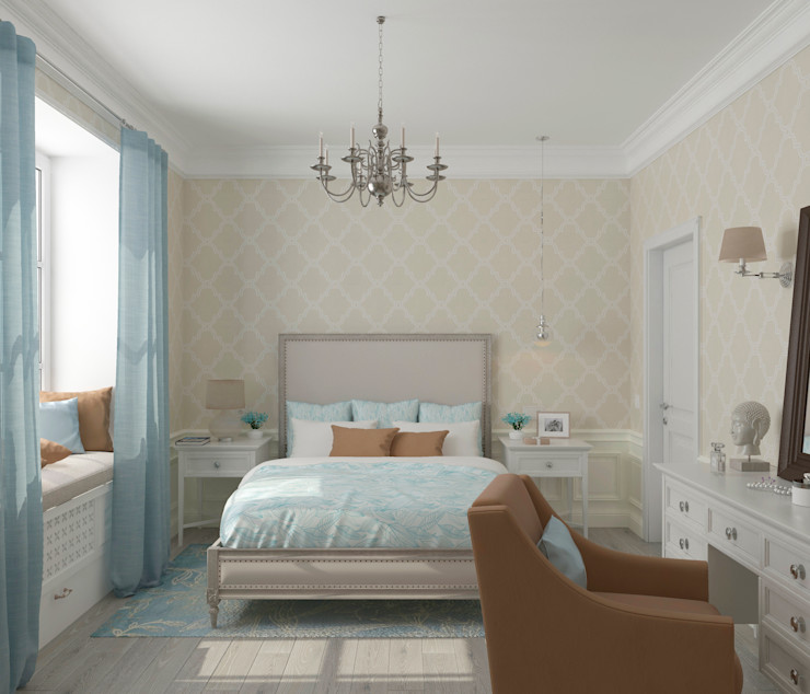 Студия дизайна Дарьи Одарюк Bedroom Multicolored