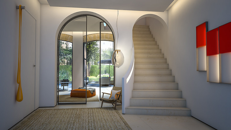 Hallway and stairs 4D Studio Architects and Interior Designers