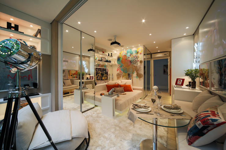 homify Living room Beige