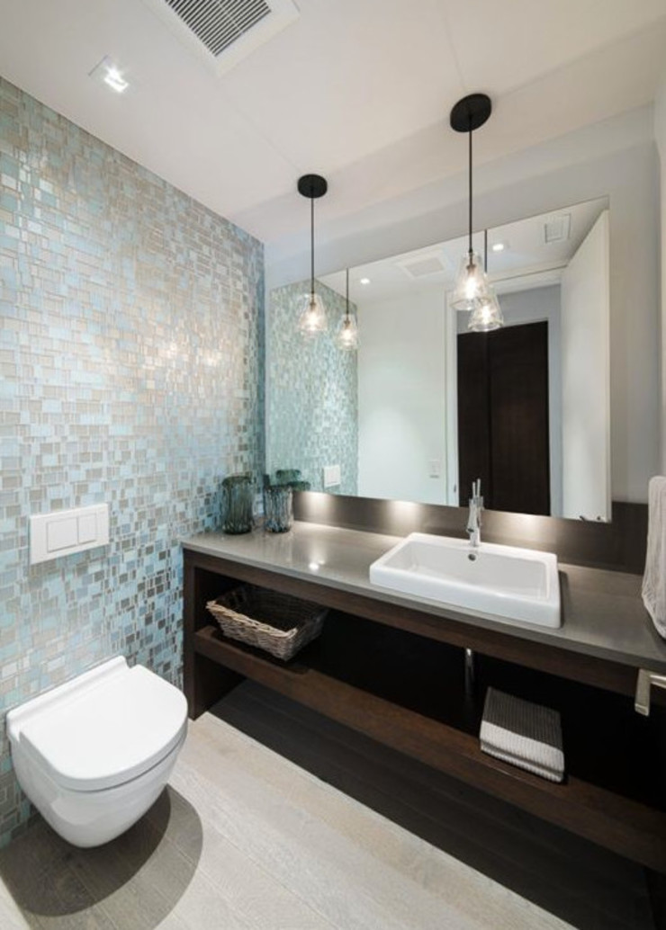 trend group Modern style bathrooms Tiles Metallic/Silver