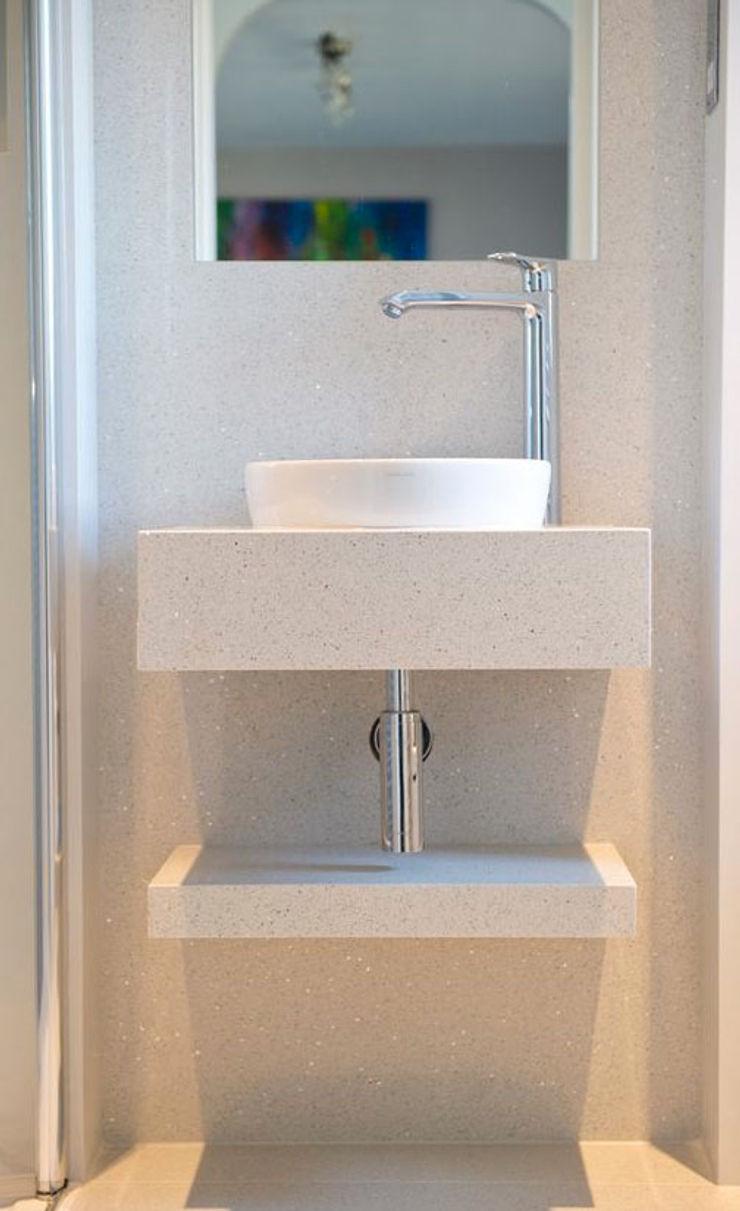 trend group Minimalist style bathrooms Tiles White