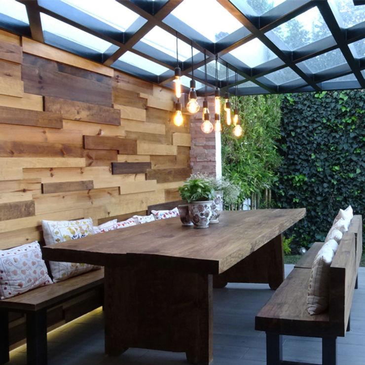 Arquitectos M253 Balcon, Veranda & Terrasse modernes