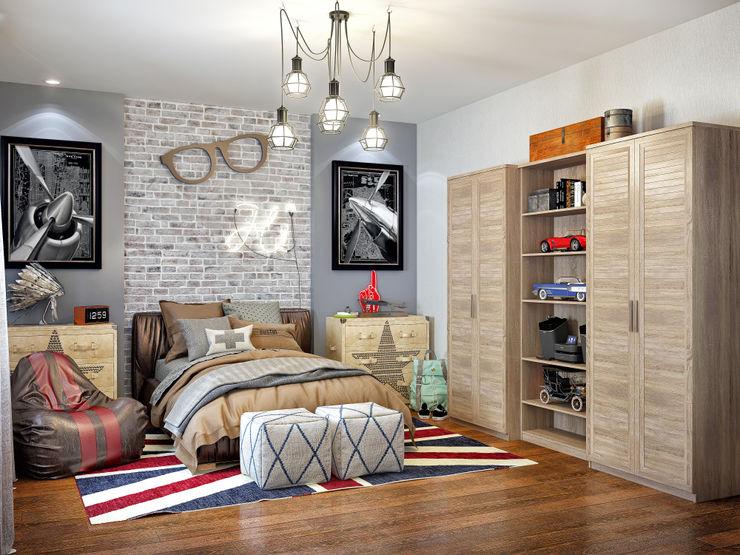 Sweet Home Design Industrial style bedroom
