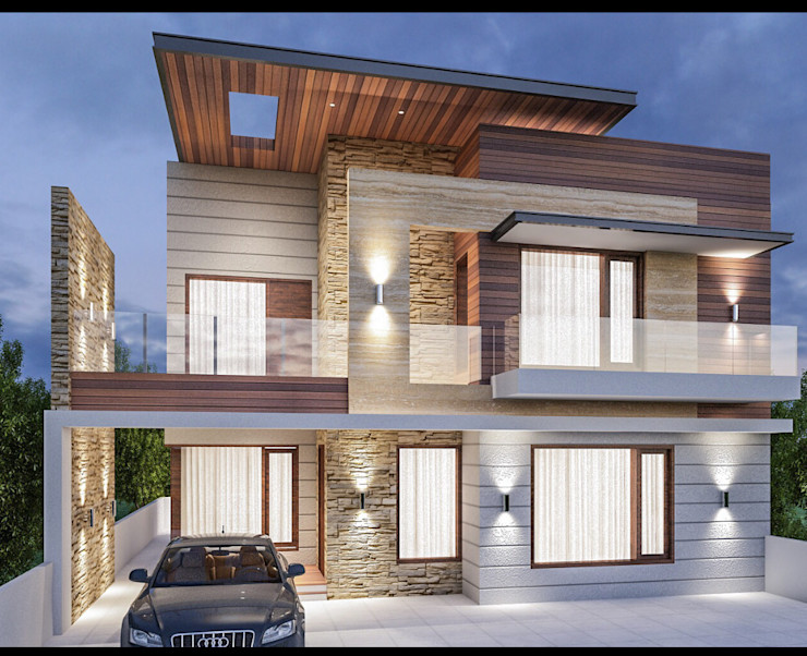 Residential projects Ingenious Modern houses Beige