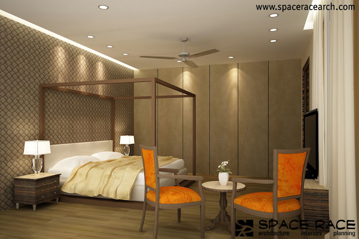 Residence at Lajpat Nagar Jalandhar (Bantu Sabhawal) SPACE RACE ARCHITECTS Classic style bedroom