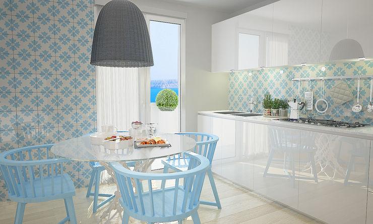 olivia Sciuto Modern kitchen Turquoise