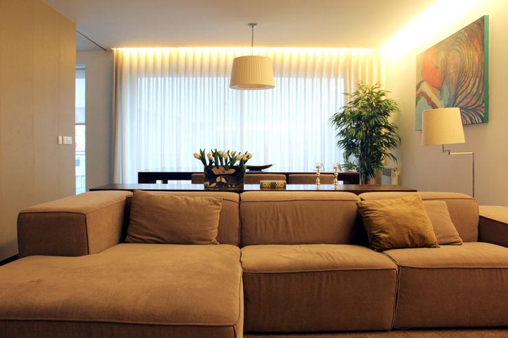 PFS-arquitectura 现代客厅設計點子、靈感 & 圖片