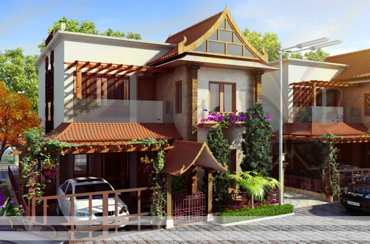 residential colony Vinyaasa Architecture & Design Asian style houses
