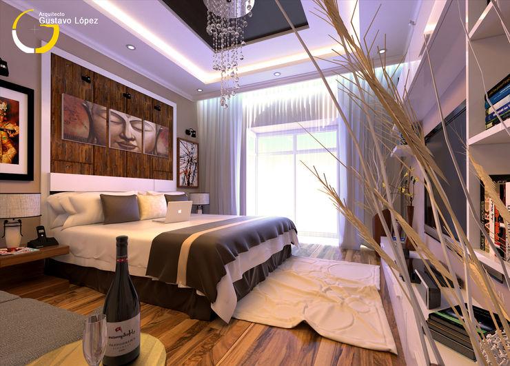 PROYECTARQ | ARQUITECTOS Moderne Schlafzimmer Beton Weiß