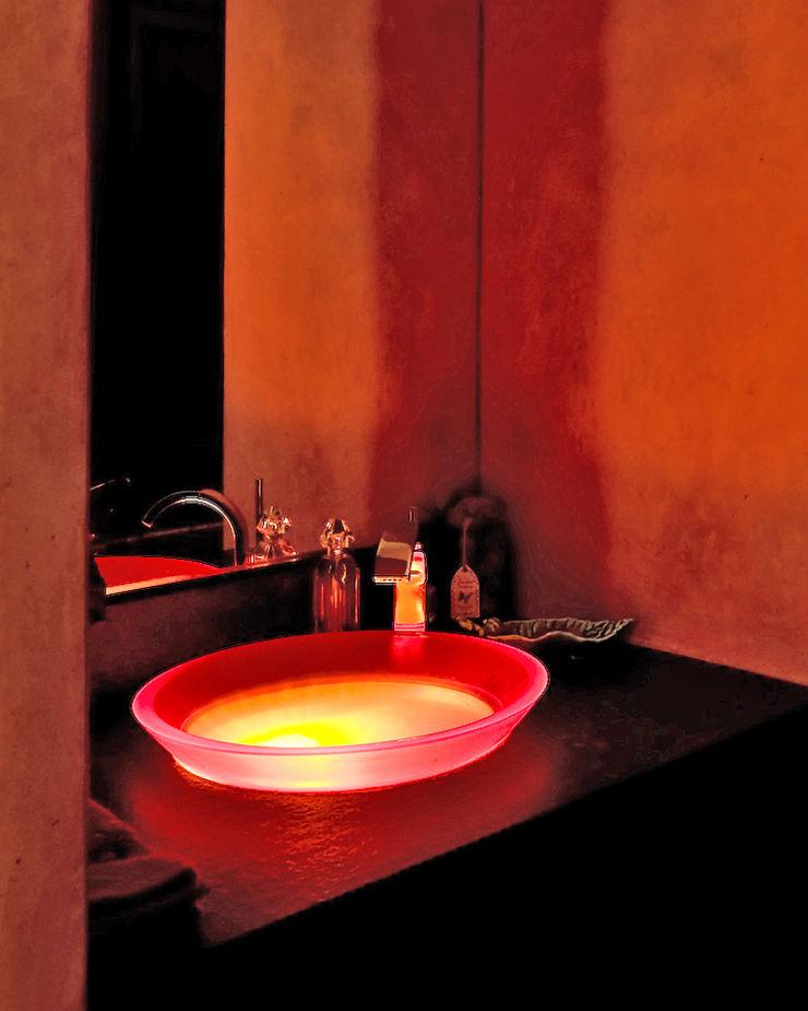 Lavabo original lumineux Pierre Bernard Création Salle de bainLavabos Orange